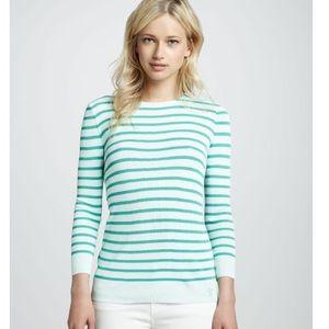 Tory Burch Polina Nautical Sweater, Size M